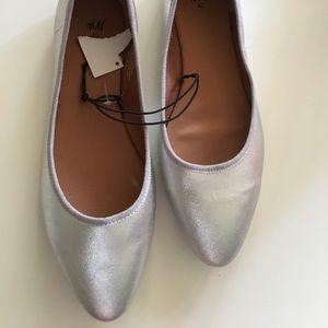 NWT- Silver H & M Flats